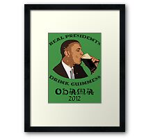 Real Presidents Drink Guinness - Obama 2012 (art) Framed Print