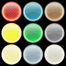 Colored glossy web buttons by robertosch