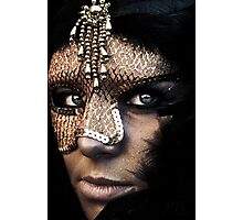 A mask of gold hides all deformities Photographic Print