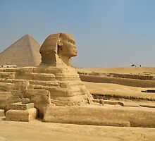 sphinx side view.. by Michelle McMahon