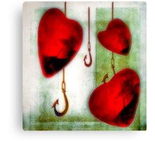 Hearts And Hooks Canvas Print