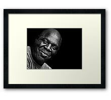 Another day, another look of intimidation melts away to be replaced by contentment and a touch of mirth Framed Print