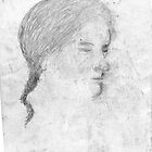 female head/drawn on bus -(240511)- pencil/A4 by paulramnora