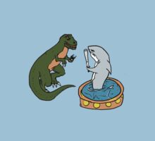 Shark Vs T-Rex by CrosbyDesign
