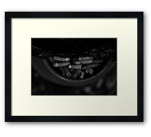 Ancient names fragments - Jewish cemetery in Rybnik Framed Print
