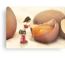 Mila and the Giant Egg Metal Print