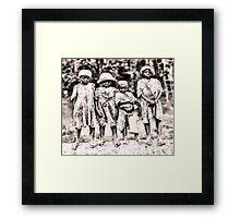 Civil War Slave Children Framed Print