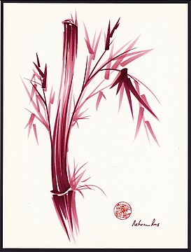 """INSPIRE"" - Original ink brush pen bamboo drawing/painting by Rebecca Rees"