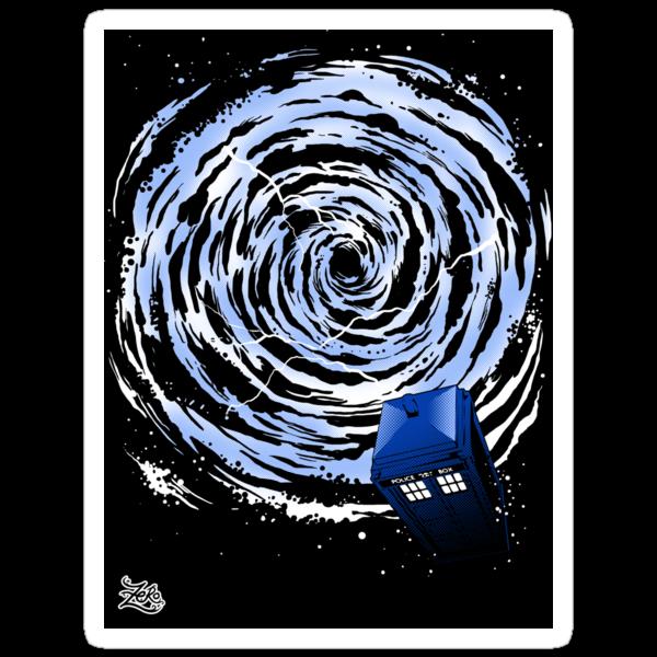 Vortex TARDIS Sticker by zerobriant