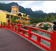 Colourful Oriental Village by Janone