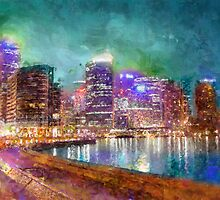 Sydney - night time by DARREL NEAVES