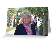 Judith Chalmers at the Chelsea Flower Show Greeting Card