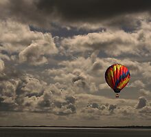 Balloons over Carrikfergus Castle by Ciaran Sidwell