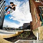Phillip Marshall heelflip. by Luke Carl Thompson