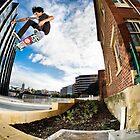 Phillip Marshall heelflip. by Luke Carl Thompson