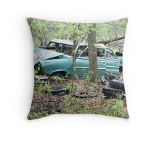April Old Motor Car Throw Pillow