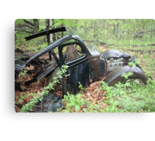 September Old Motor Car Metal Print