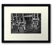 Dancing On Stilts Framed Print