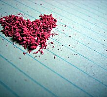 """Blow me away"" - Heart shaped eraser shavings  by Liamspero"