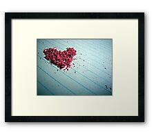 """""""Blow me away"""" - Heart shaped eraser shavings  Framed Print"""