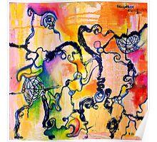 Schlieren Chiarascuro, original abstract oil painting by Regina Valluzzi Poster