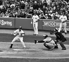 Ellsbury pulling back the bunt by apsjphotography