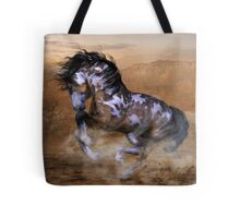 The Wild,The Free Painted Horse Tote Bag