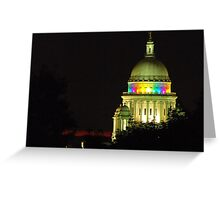 Providence State House dome Greeting Card