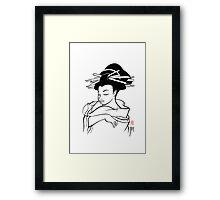 Maiko sketch Framed Print