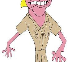 Steve Irwin Caricature by killahbee
