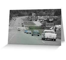 Driving Back In Time Greeting Card