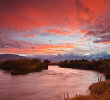 Epic Owens River Sunset by Nolan Nitschke