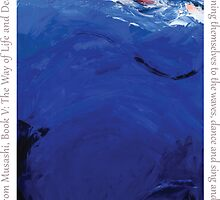 Blue #1, Musashi Series (with text) by Susan Baily Weaver