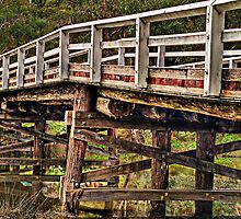 hdr old bridge over port hacking photomatix by muzzicci