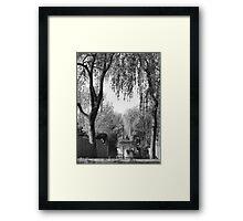 Behind the gardens Framed Print