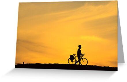 Riding into Sunset by Mikhail Lenitsyn
