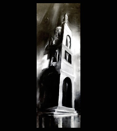 The Tower. Hel's Tower. Charcoal  and chalk  by pauldrobertson
