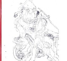 Drawing: Tate Gallery Sculpture -(270511)- Black Biro Pen by paulramnora