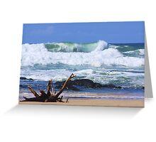 wild surf ... Greeting Card