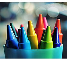 crayons.. Photographic Print