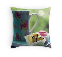 afternoon tea.. Throw Pillow