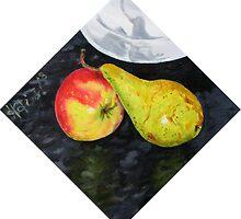 Apple and Pear by Helen Imogen Field