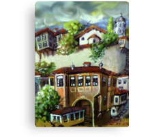 Storey of the old town Canvas Print