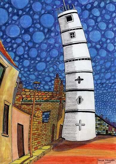 201 - THE LIGHTHOUSE, BLYTH - COLOURED PENCILS - 2008 by BLYTHART
