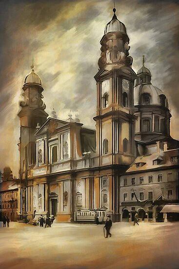 Theatine Church, Munich 1900 by andy551