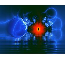 Strange Lights on the Lake Photographic Print