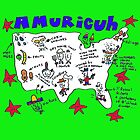 Amuricuh new color print by Ollie Brock