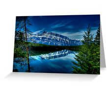 Rundle Mountain Reflections Greeting Card