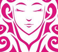 Zodiac Sign Virgo Pink Sticker