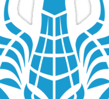 Zodiac Sign Scorpio Blue Sticker
